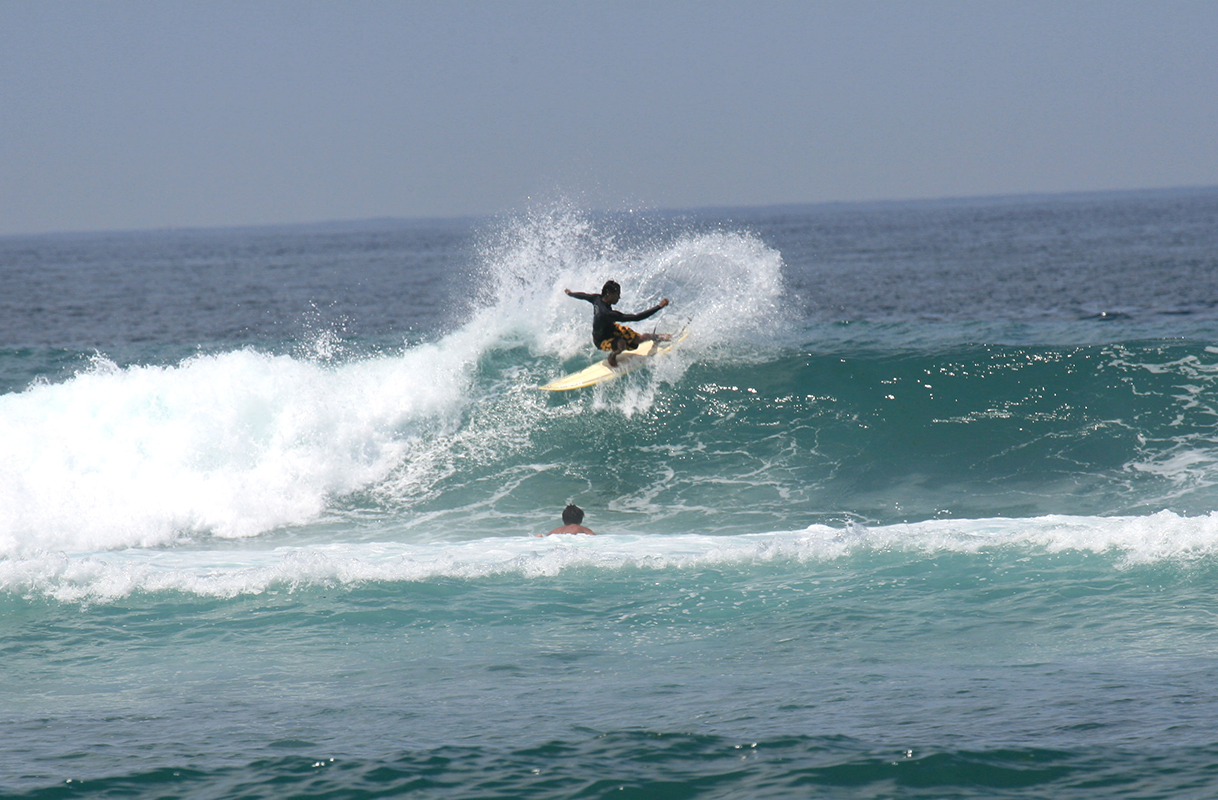Surfing at Japan\'s best surf points in Amami